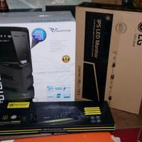 Harga pc satu set office admin editing intel core i3 monitor lg ips 20   Pembandingharga.com