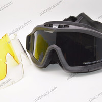 New Kacamata Sunglasses Tactical Spy + Goggle Ski Airsoft Gun 3 in 1