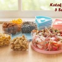 Kotak Snack Kue Makanan Ringan 5 Sekat   Tempat Penyimpanan Kue