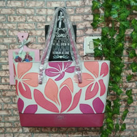 GUESS Totte Bag Flower Pink