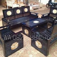 Meja Kursi Ruang Tamu Model Koper 3211+1 Kayu Jati Jepara Free Ongkir