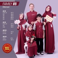 Baju Muslim Couple Keluarga Alnita Couple Family 05 Maroon ORIGINAL