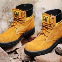 Terlaris Sepatu Pria Boot Sneakers Kets Sport Safety Proyek CAT Cater