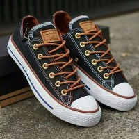 Terlaris Sepatu Converse All Star Chuck Taylor CT Tali Coklat Cowo Ke