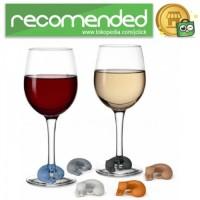Silikon Label Gelas Wine Party Recognizer Model Kucing 6PCS - Mix Colo