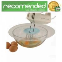 Penutup Mangkuk Adonan Mixer Kue Telur Splash Proof - Hitam