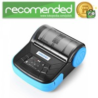 Mini Portable Bluetooth Thermal Receipt Printer - MTP-3 - Hitam