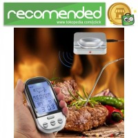 Digital Termometer Daging BBQ Wireless Timer Alarm with Probe Sensor -