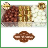 Coklat Delfi Toples Sekat 3 C Original