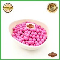 Coklat Kiloan Lagie Mini Choco balls Pink / Merah Muda ASLI ORIGINAL