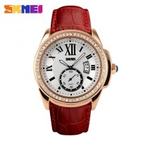 jam tangan cewek original SKMEI Casual Women Leather anti air