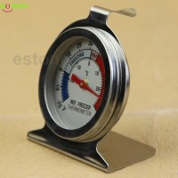 Temperature Refrigerator Freezer Dial Type Thermometer Stainless Steel