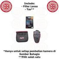 Paket pembelian dengan kamera ; Include Filter Lensa + Tas