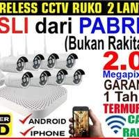 PAKET CCTV IP 8 CAMERA 2MP ( CCTV FULL WIRELESS / WIFI )