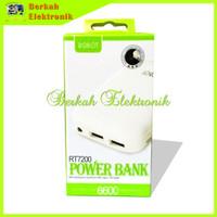 Jual Powerbank Robot RT7200 Vivan 6600mAh PB Power Bank Charger Portable Ga Murah