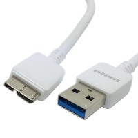 USB 3.0 Micro B Data Cable 10 Pin for Samsung Galaxy Note 3 - Putih