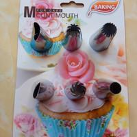 Spuit Mount Mouth Baking 6pc / Spuit Penghias Kue / Spuit Import