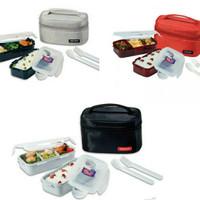 LOCK n LOCK Lunch Box 2P Set Bag & Spoon, Fork Set Black (HPL752DB)