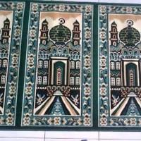 KHUSUS GOJEK Sajadah roll / Karpet Masjid / Karpet Mushola Hijau