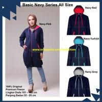 Jaket Hijaber Muslimah Hijacket Basic Original Navy Series All Size