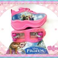 TERLARIS SEPATU ANAK WANITA Sepatu Roda 2 Frozen Pink