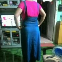 BAJU WANITA Overall ibu hamil gamis jeans rok panjang jumbo zipper