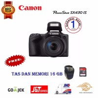 Termurah Kamera Canon Powershot SX430 IS Digital Camera Free Memory 1