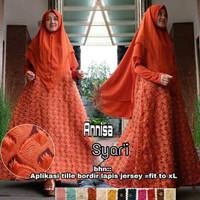 Gamis Syar i/dress gamis set plus hijab gamis syarii baju muslim