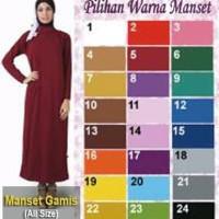 Best manset dalaman gamis baju dress spandex busana muslim muslimah