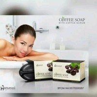 Hanasui Coffee Soap With Coffee Scrub Sabun Mandi Kopi Hanasui Limited