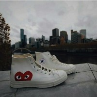 ready Sepatu Converse All Star 70s HI X comme Des Garcons PLAY