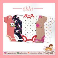 Baju bayi bodysuit anak perempuan 6 bulan carter's love berlabel SNI