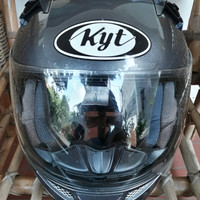 Jual helm KYT K2 Rider abu abu metallic Second (bukan INK, NHK, MDS)