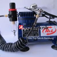 Kompresor mini + pen brush hnl Mini Air Brush Compressor H&L AS18-2