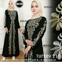 Jual Gamis abaya turki/ gamis bordir/ dress muslimah Murah
