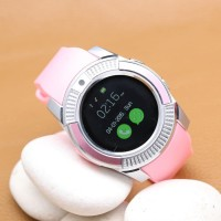 BIG SALLE Jam Tangan Smartwatch Bulat Led Bisa connect HP