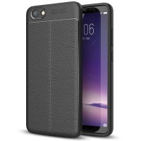 Leather Hard Soft Case VIVO Y71 Casing HP Kulit Silikon Armor Softcase