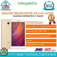 HP XIAOMI REDMI NOTE 4X 4 64 GOLD GARANSI DISTRIBUTOR 1 TAHUN ANDROID