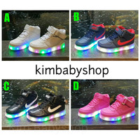Sepatu lampu anak LED Nike Kids 519 impor