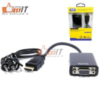 NYK Converter Kabel HDMI to VGA + Audio Original 100%