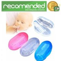 Sikat Gigi Bayi Bahan Soft Silicone Finger Toothbrush - Transparan