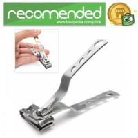 Gunting Kuku Rotateable Nail Trimmer Manicure - Silver