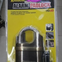 Dijual Gembok Alarm Krisbow K106C Gold / Alarm Padlock / Gembok Anti