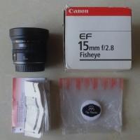 Lensa Langka 15 mm f2.8 Fisheye Canon EF 15mm f/2.8 Murah Bukan 8-15mm