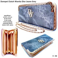 T2105 Clutch bag dior jeans grey