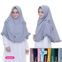 Hijab jilbab bergo kerudung scarf khimar instan nazwa