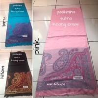 Jual Pashmina sutra motif batik import Murah