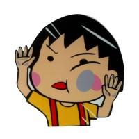 Aksesoris Mobil Stiker Chibi Maruko Tabrak Kaca Hit the Glass Sticker