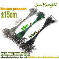 Kawat Pancing Leader Kili Kili /Sling atau Seling leader Hitam 15 cm