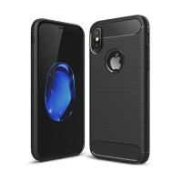 Case Ipaky Carbon Fiber IPHONE XS 5.8 Softcase Shockproof TPU